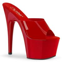 ADORE-701N Pleaser vegan sexy platform slide red jelly like