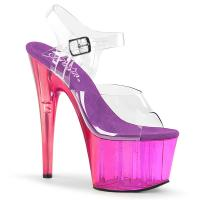 ADORE-708MCT Pleaser high heels platform sandal clear purple tinted