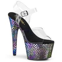 ADORE-708SP Pleaser vegan High Heels platform sandal clear purple holo