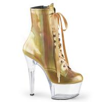 ASPIRE-1020BHG Pleaser high heels platform ankle boot gold clear brushed hologram