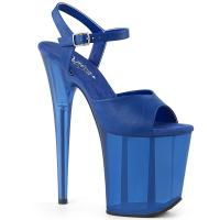 FLAMINGO-809T Pleaser high heels platform sandal blue frosted