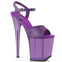 FLAMINGO-809T Pleaser high heels platform sandal purple frosted