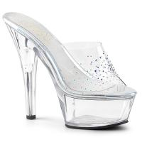 KISS-201SD Pleaser elegant platform slide with rhinestones clear
