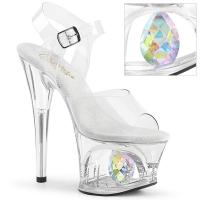 MOON-708DIAaMOON-708DIA Pleaser cut-out platform ankle strap sandal clear diamond