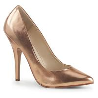 SEDUCE-420 sexy Pleaser high heels stiletto pumps rose gold metallic matte