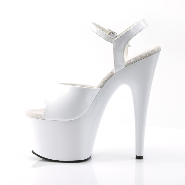 ADORE-709 Pleaser High Heels Platform Sandal white patent