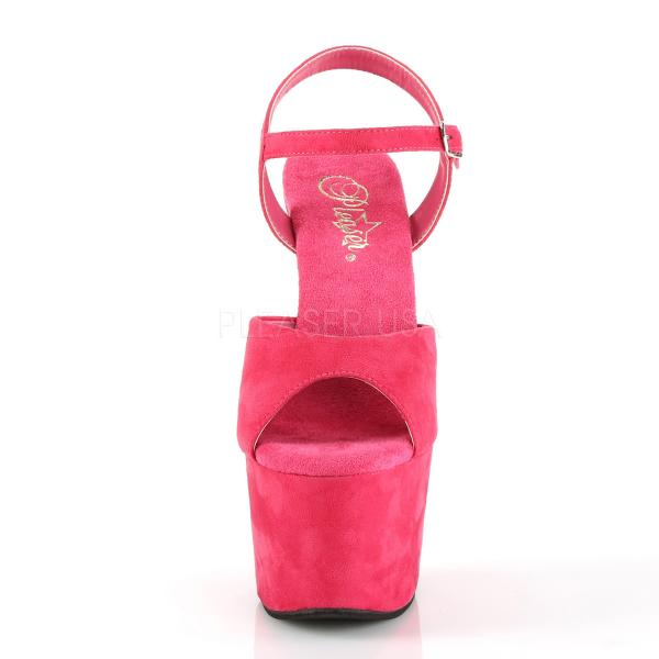 ADORE-709FS Pleaser High Heels fully wrapped platform sandal hot pink velours