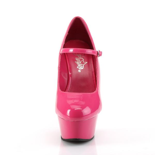 DELIGHT-687 Pleaser High Heels platform mary jane pump hot pink patent