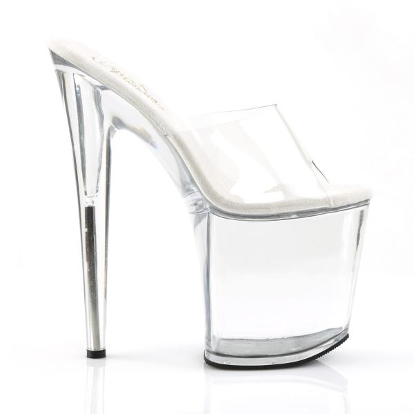 FLAMINGO-801 Pleaser high heels platform slide clear