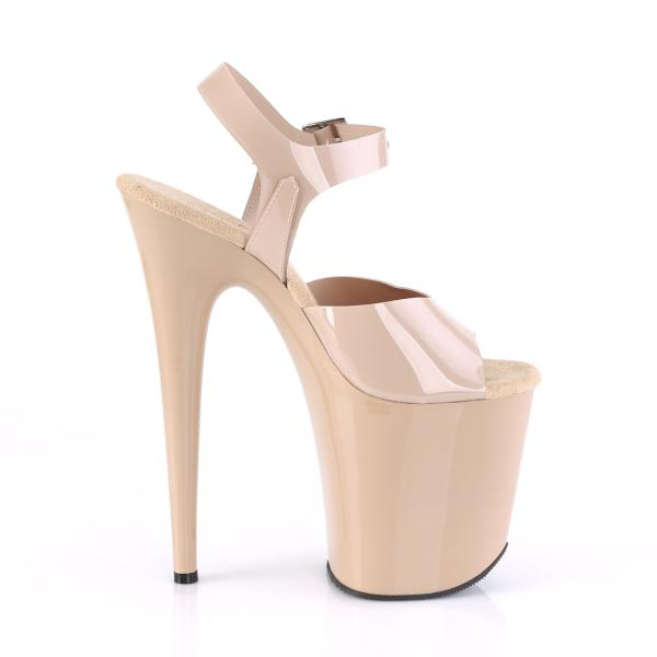 FLAMINGO-808N Pleaser high heels platform sandal cream jelly-like straps