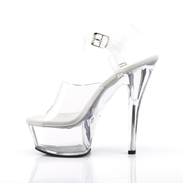 KISS-208DAS Pleaser High-Heels Sandaletten und Pantoletten transparent